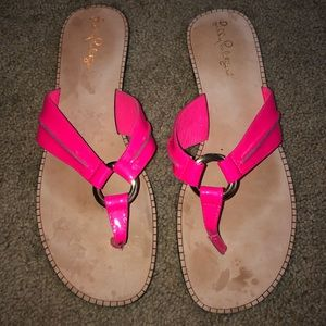 Lilly Pulitzer Pink McKim Sandal size 8.5